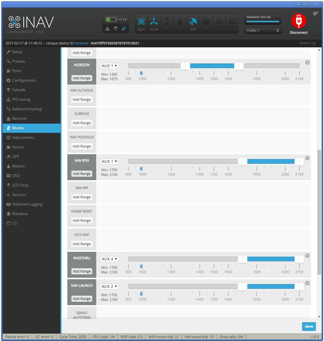 在CC3D飞控上烧写iNAV固件用于固定翼导航飞行